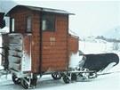 Stav rakouského unikátního sněžného pluhu před opravou.