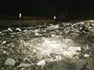 Největší škody bleskové lokální povodně napáchal Zákolanský potok v Dolanech.