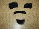 Muž si při přepadení nalepoval výrazný knír, vousy a obočí.