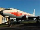 Letoun Tu-104 v barv�ch �SA v leteck�m muzeu ve Kbel�ch