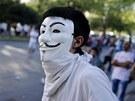 Protivládní protesty v Istanbulu v sobotu 1. června 2013