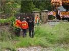 Na odstraňování lávky kvůli rozštěpenému mostnímu pilíři dohlíželi i
