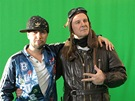 Při natáčení klipu se sešli František i Ondřej Soukup.
