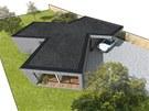 Zlomení obytné části nenásilně dělí dům na funkční úseky, aniž by museli být...
