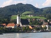 Rakouské městečko Grein u Dunaje