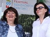 Zleva Božena Jirků, ředitelka Konta Bariéry, Vladana Rýdlová, předsedkyně Porte