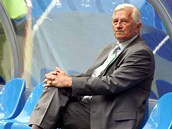 Karel Brückner před utkáním mistrovství světa proti Itálii v červnu 2006.