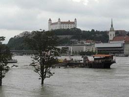 Velká voda v Bratislavě (6. června 2013)