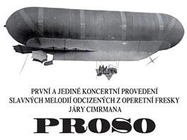 Plakát koncertního provedení operety Proso