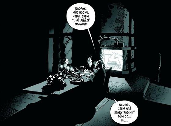 Ukázka z českého vydání komiksu Ragemoor