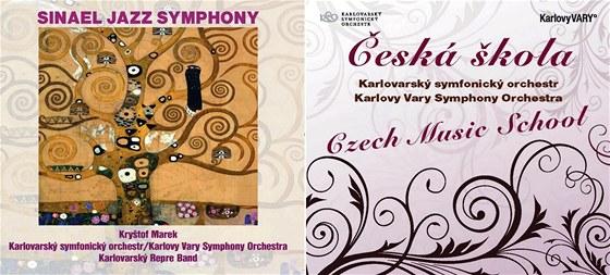 Obálka dvojCD - na jednom disku se nachází dílo Sinael Jazz Symphony skladatele