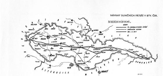 Plánované silniční páteře České republiky