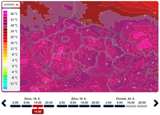 Předpověď počasí slibuje tropické teploty
