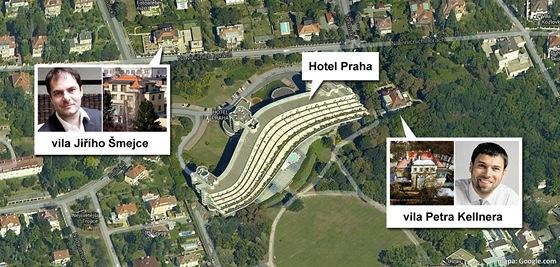 Kdo bydlí v těsné blízkosti Hotelu Praha