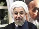 Nově zvolený prezident Íránu Hasan Ruhání (17. června 2013)