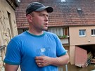 Martin Mikyna z �esk�ch Kopist m�l p�i povodni v dom� metr vody.