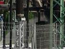 Zničená trafostanice na pražském Chodově (19.6.2013)