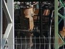 Zni�en� trafostanice na pra�sk�m Chodov� (19.6.2013)