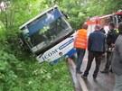 Nehoda autobusu u Třebíče - Račerovic.