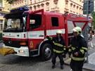 Hasiči zasahovali kvůli uniku plynu v Londýnské ulici v Praze.