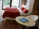 Minibyt o rozloze 21 metrů čtverečních. Projekt s názvem Living Showroom v