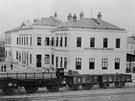 Severozápadní dráha - Nádraží v Německém Brodě v roce 1871, krátce po dokončení