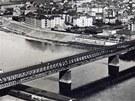 Severozápadní dráha - Labský viadukt v Ústí nad Labem v první třetině 20.