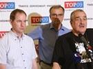 Politici TOP 09 se vyhnuli jasné odpovědi na otázku, zda by za lepší řešení