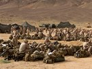 Americk� n�mo�n� p�chota na vojensk�m cvi�en� Eager Lion v Jord�nsku