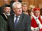 Prezident Miloš Zeman jmenoval v pražském Karolinu přes šedesát nových