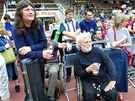 Ivan Hlas a Jan Kašpar při charitativním běhu pro Konto Paraple na pražské