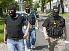 Policist� p�i z�sahu u vily podnikatele a lobbisty Ivo Rittiga v Bene�ovsk�...