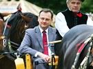Petr Nečas navštívil v srpnu 2010 českobudějovický veletrh Země živitelka....