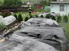 Hasiči v Žimrovicích položili proti záplavové vlně velké pryžové vaky napuštěné