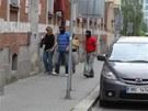 Policisté přivádějí Janu Nagyovou na policejní služebnu v Masné ulici v Ostravě
