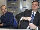 P�edseda ODS Petr Ne�as a 1. m�stop�edseda strany Martin Kuba na zased�n�