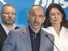 Po v�konn� rad� ODS, na kter� rezignoval p�edseda strany Petr Ne�as, se veden�