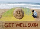 Brzy se uzdrav. Jihoafričané si přejí, aby se jeijch hrdina Nelson Mandela