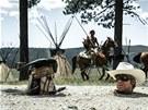Johnny Depp ve filmu Osamělý jezdec.