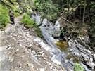Na snímku je Černohorský potok v Těsném dole v Krkonoších, prohnala se tudy