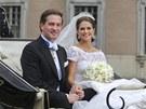 Švédská princezna Madeleine a Chris O'Neill se vzali. (8. června 2013)