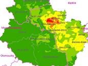 Takto vypadaly průměrné roční koncentrace polétavého prachu v česko-polském