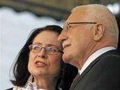 Miroslava Němcová a Václava Klaus
