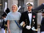 Norský princ Haakon a jeho manželka Mette-Marit