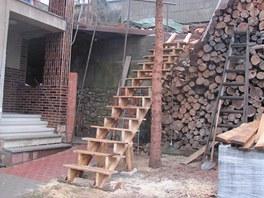 Venkovní zábradlí na schody