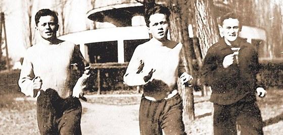 Bratři Mašínové a Milan Paumer - trénink před útěkem (Poděbrady, foto z let