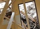 Pád podmáčeného svahu poničil dům rodiny Voldánových v Miroslavi na Znojemsku,