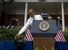 Barack Obama při projevu na Georgetownské univerzitě (25. června)