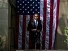 Barack Obama před projevem na Georgetownské univerzitě (25. června)