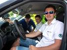 Tovární jezdec Škodovky Jan Kopecký za volantem Fabie 1,2 HTP